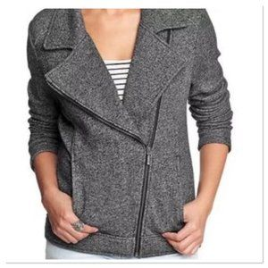 Catherine Malandrino black white marled jacket M